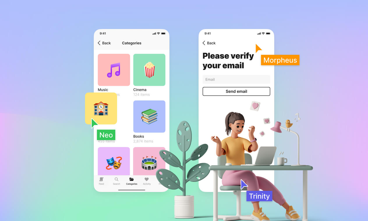 Lunacy app real-time design cooperation